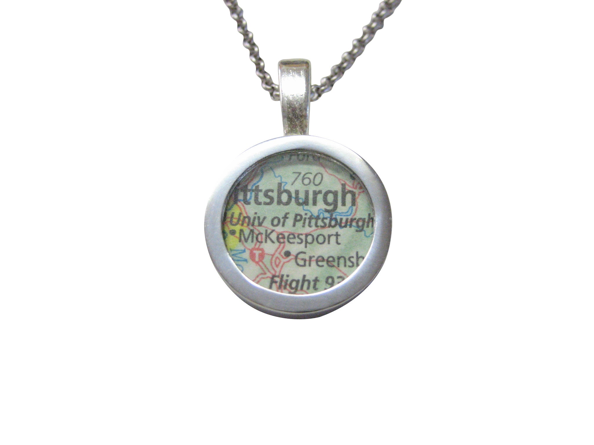 University of Pittsburgh Map Pendant Necklace