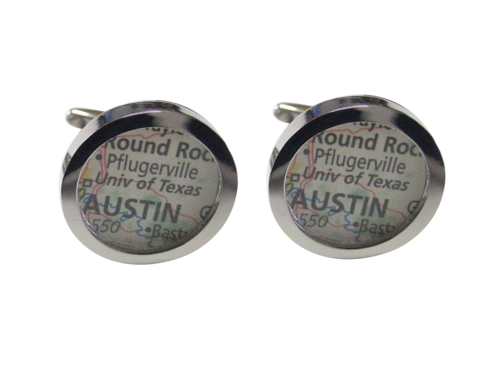 University of Texas Map Cufflinks
