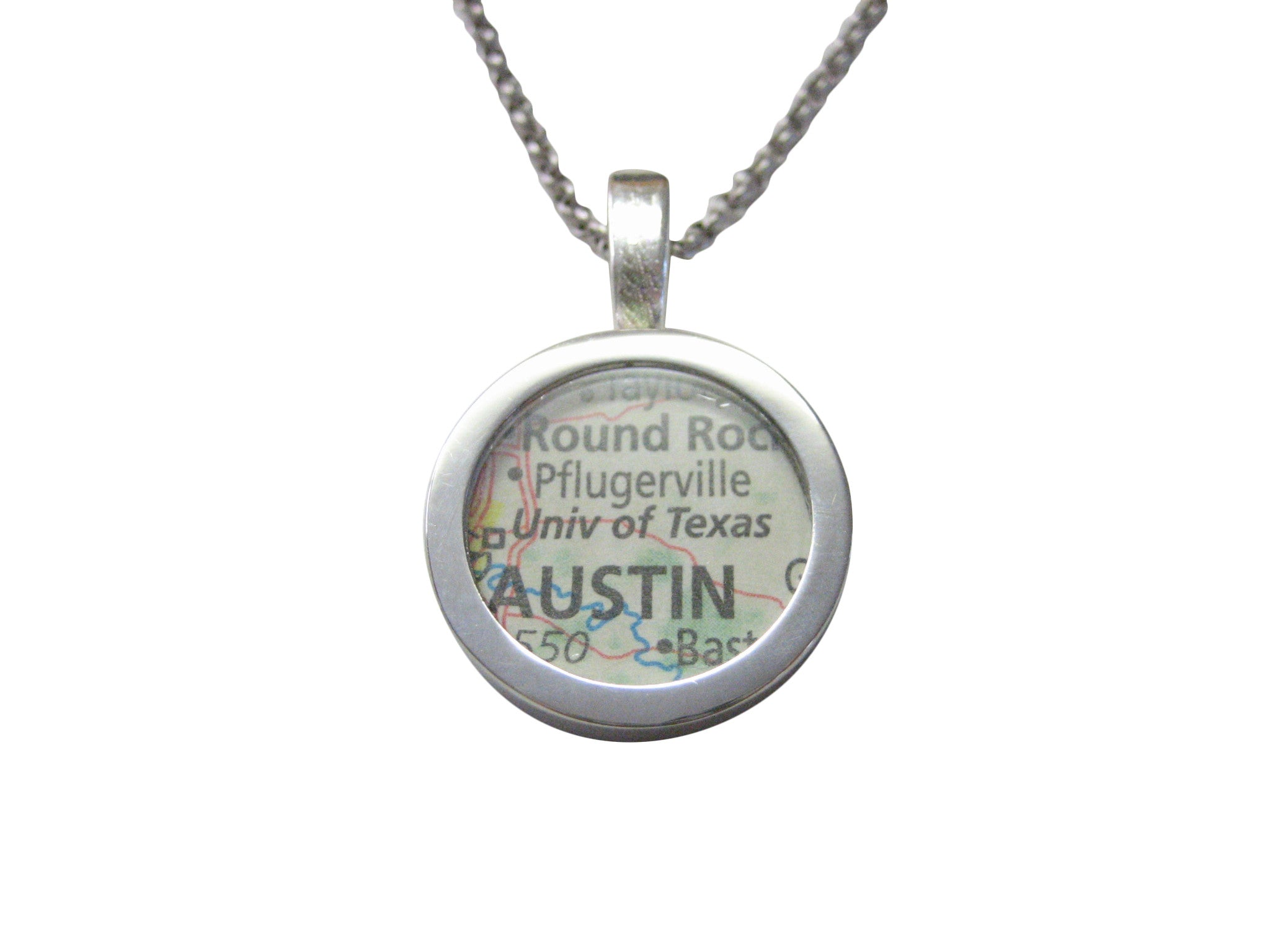 University of Texas Map Pendant Necklace