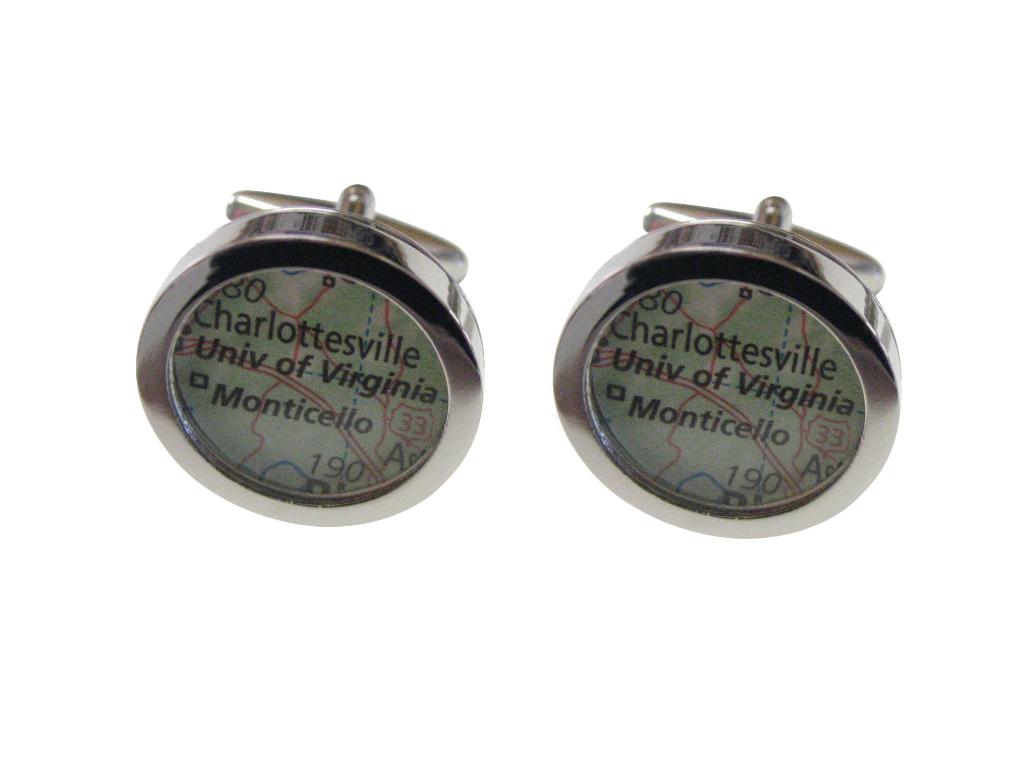 University of Virginia Map Cufflinks