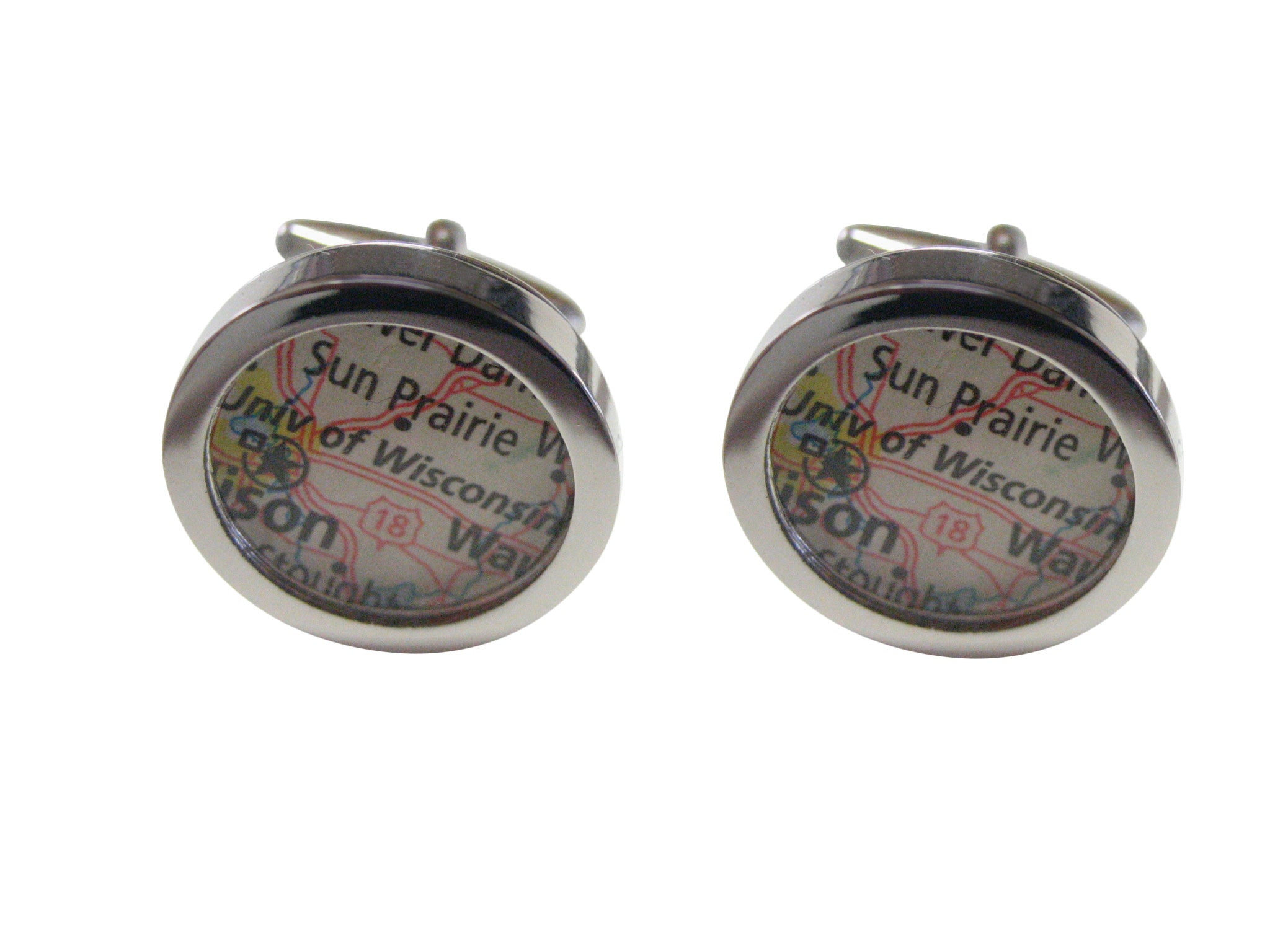 University of Wisconsin Map Cufflinks