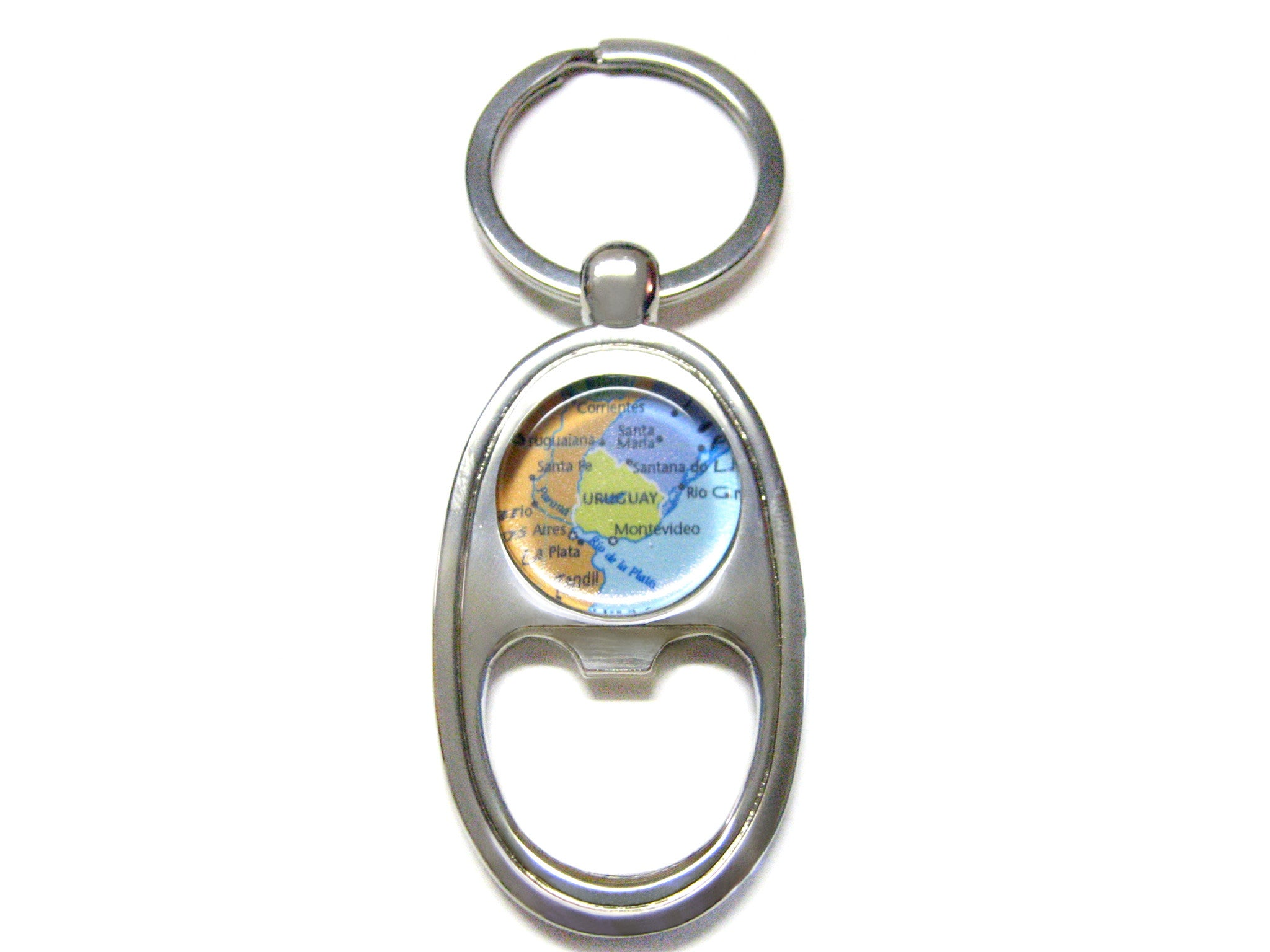 Uruguay Map Bottle Opener Key Chain