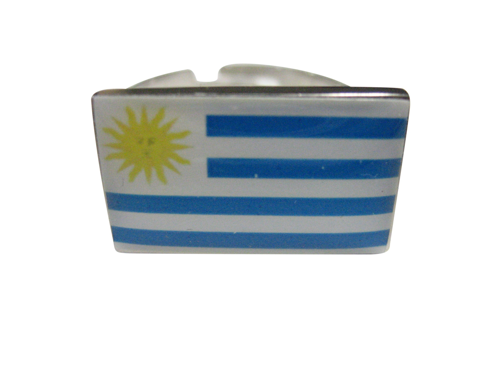 Uruguay Flag Adjustable Size Fashion Ring