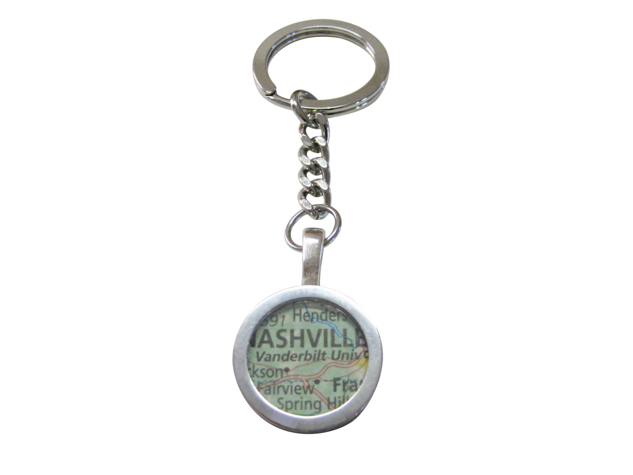 Vanderbilt University Map Pendant Keychain
