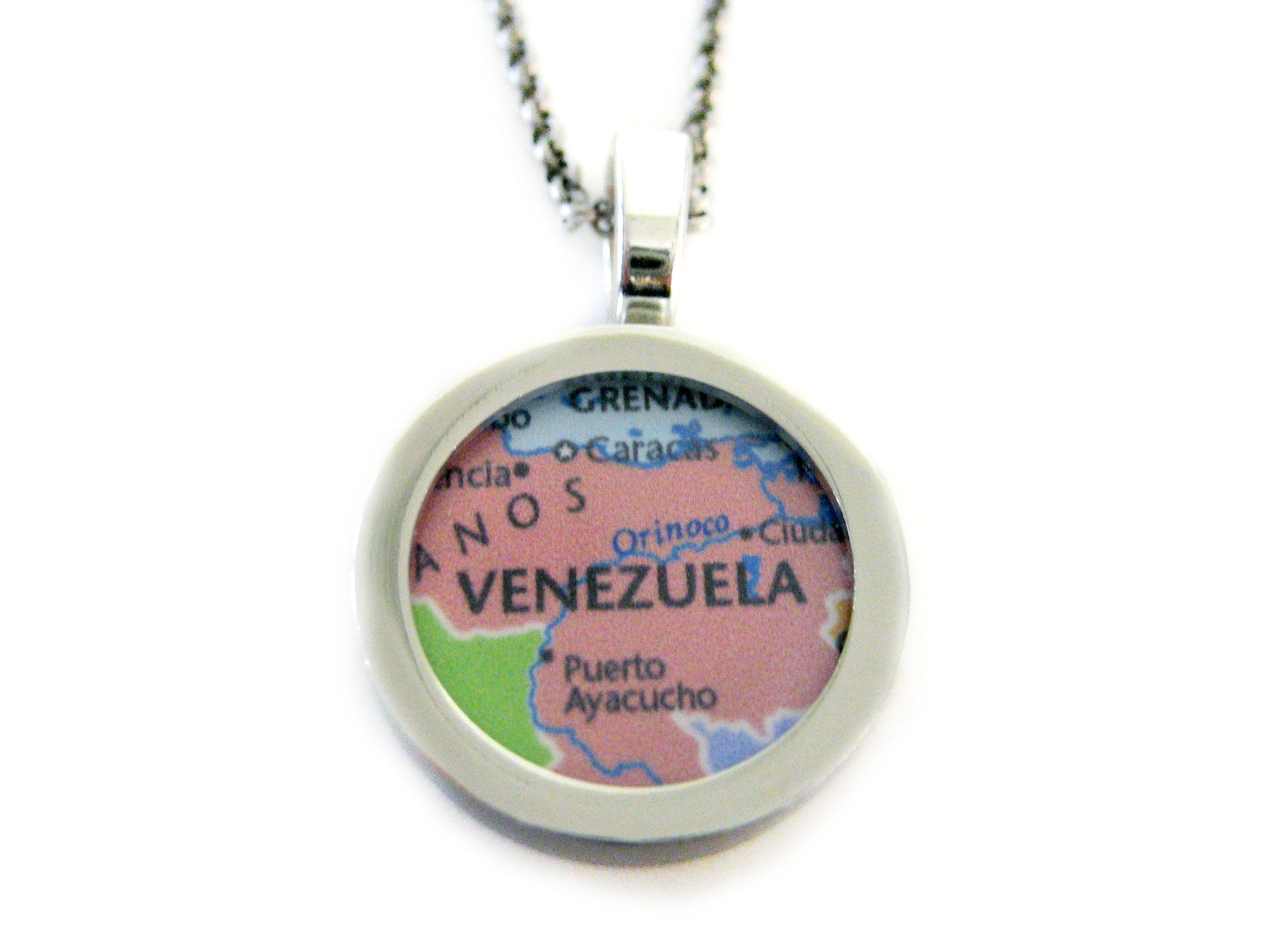 Venezuela map pendant necklace kiola designs venezuela map pendant necklace aloadofball Image collections