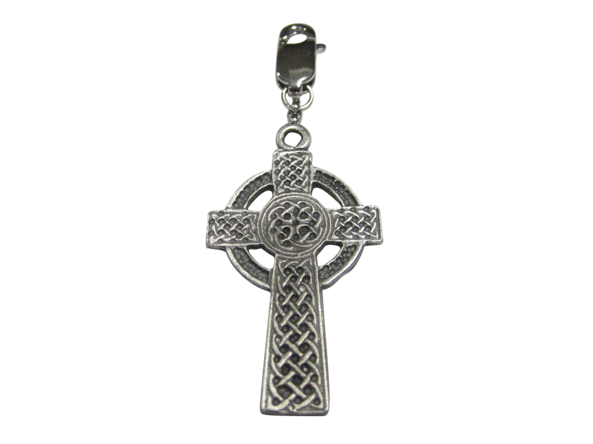 Very Large Celtic Cross Pendant Zipper Pull Charm