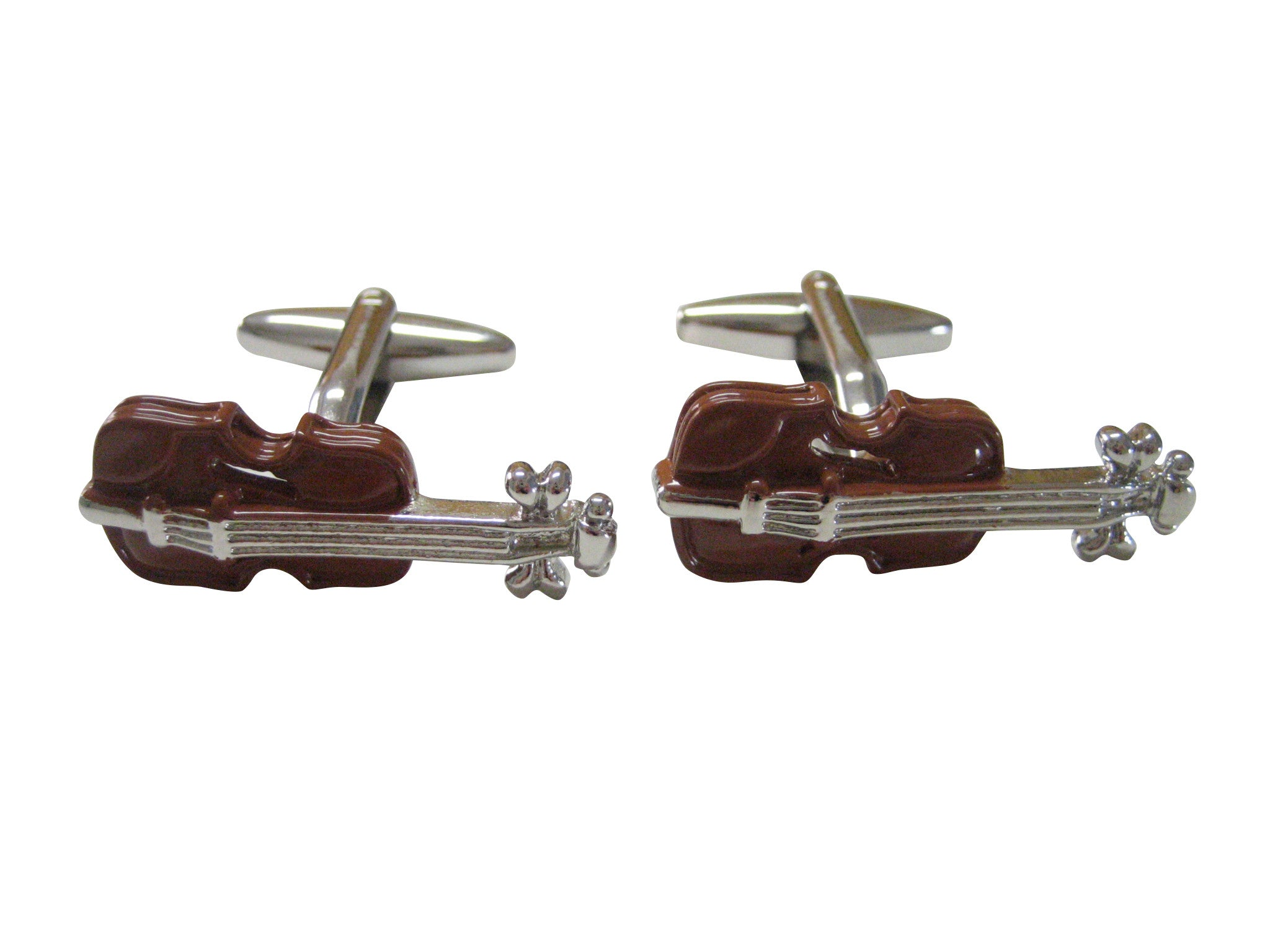 Colored Violin Music Instrument Cufflinks