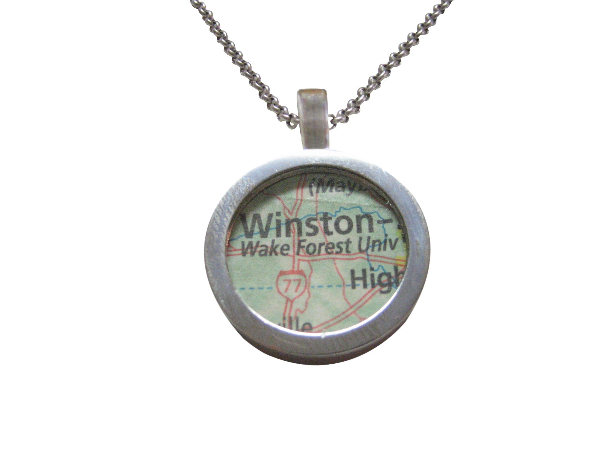 Wake Forest University Map Pendant Necklace - Kiola Designs
