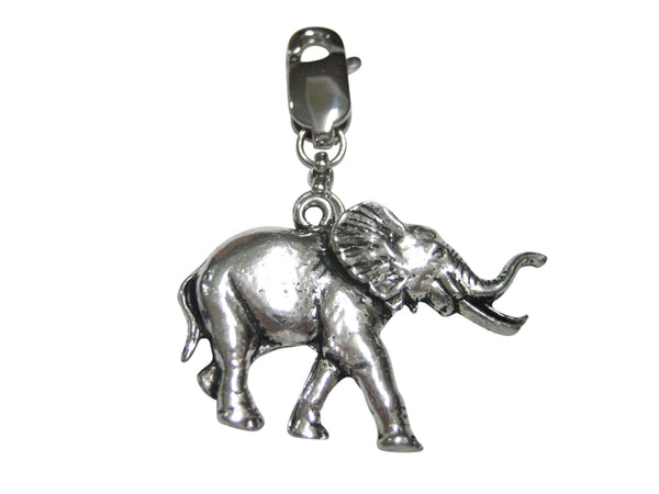 Walking Elephant Pendant Zipper Pull Charm