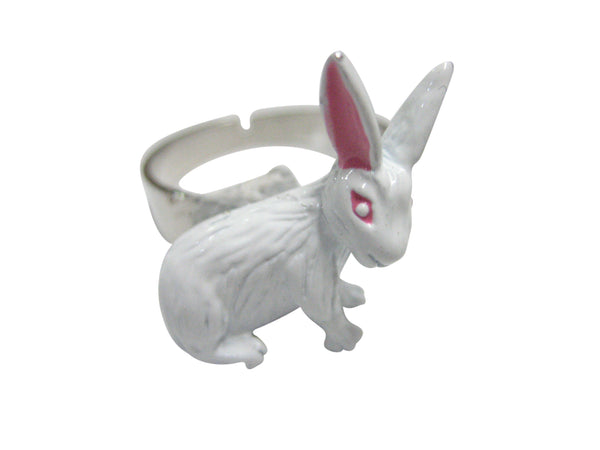 White Rabbit Hare Adjustable Size Fashion Ring