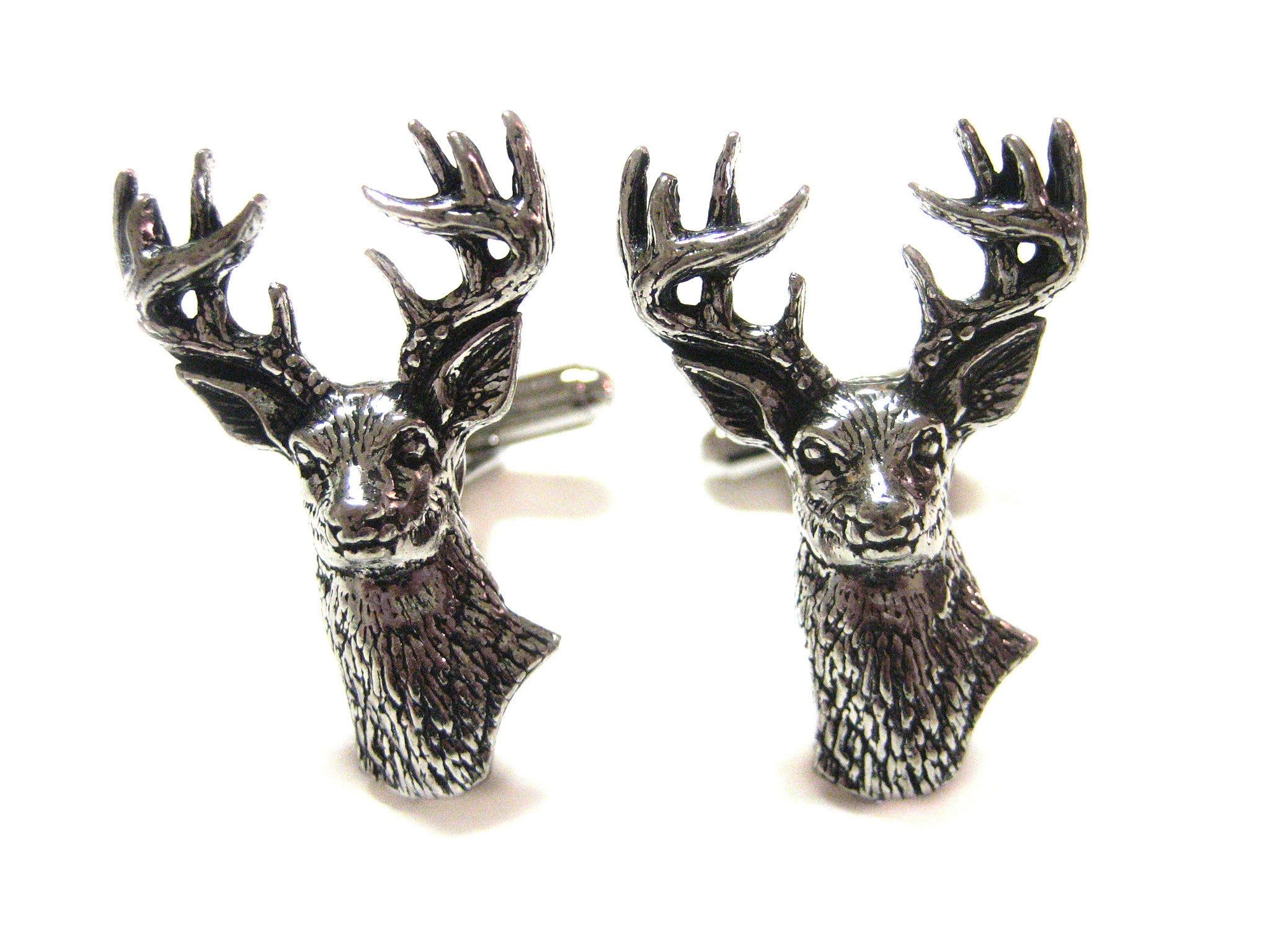 White Tailed Stag Deer Head Cufflinks