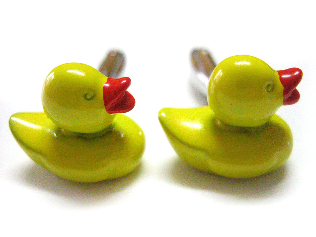 Yellow Rubber Ducky Cufflinks