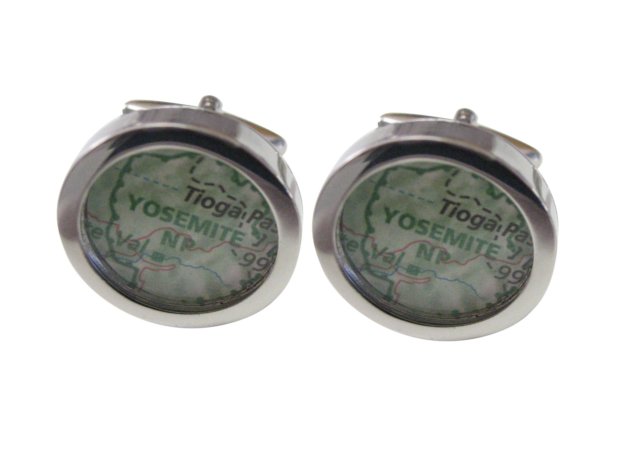 Yosemite National Park Map Cufflinks