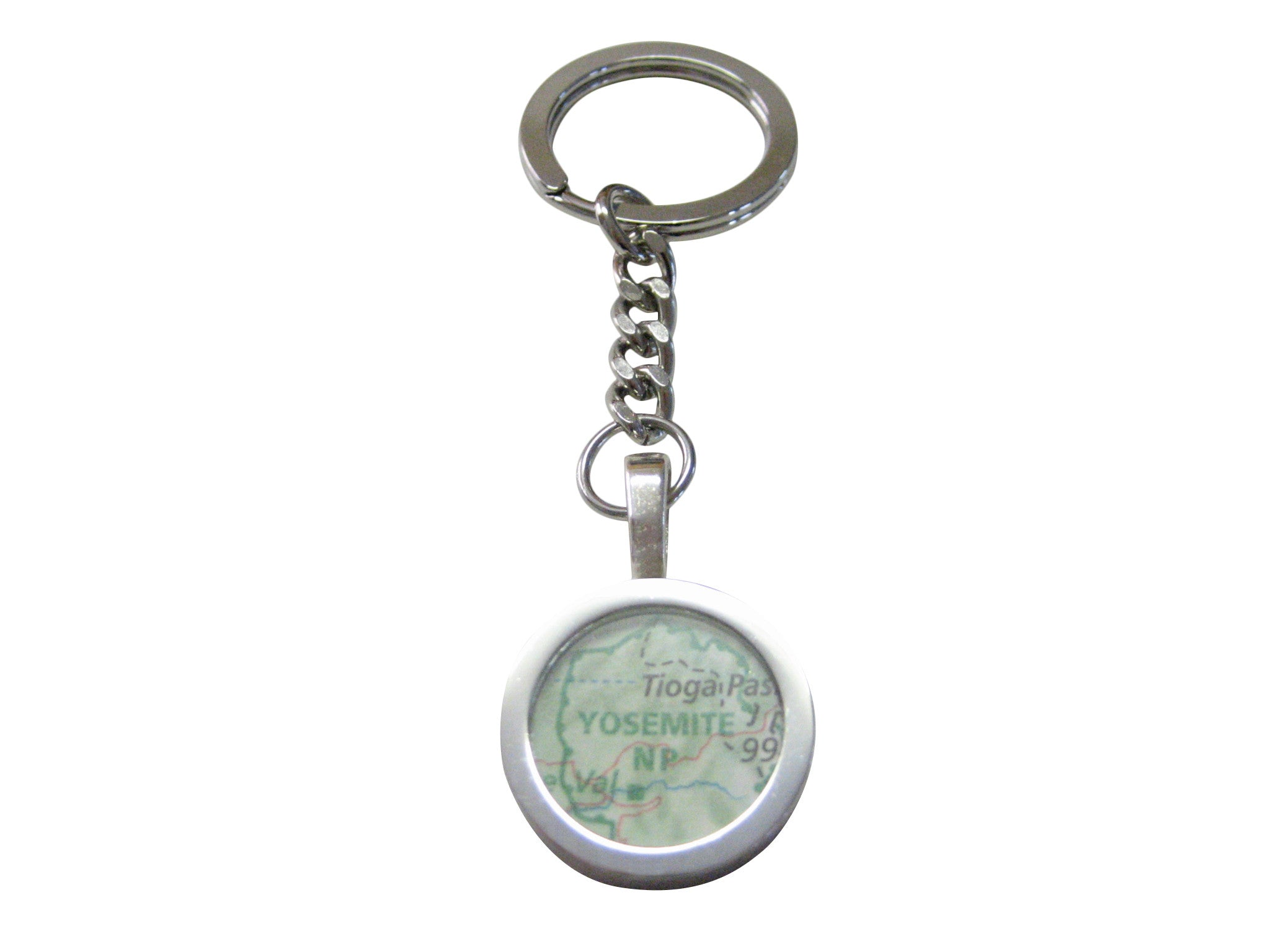 Yosemite National Park Map Pendant Keychain