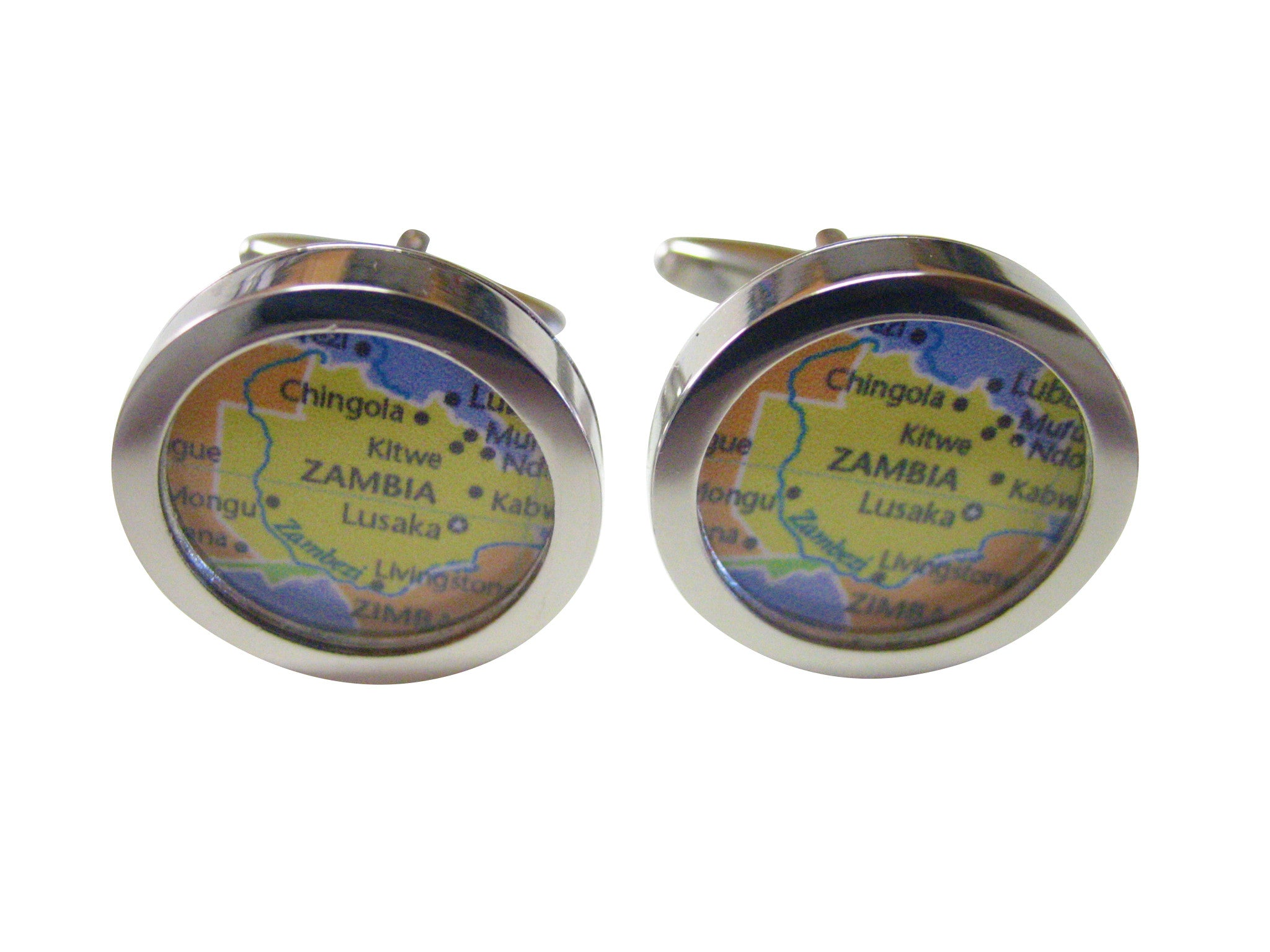 Zambia Map Cufflinks