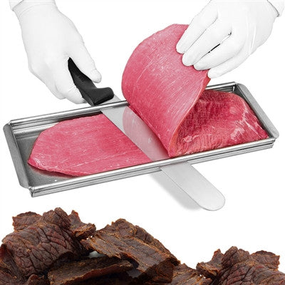 Stainless Steel Jerky Cutting Board with Knife