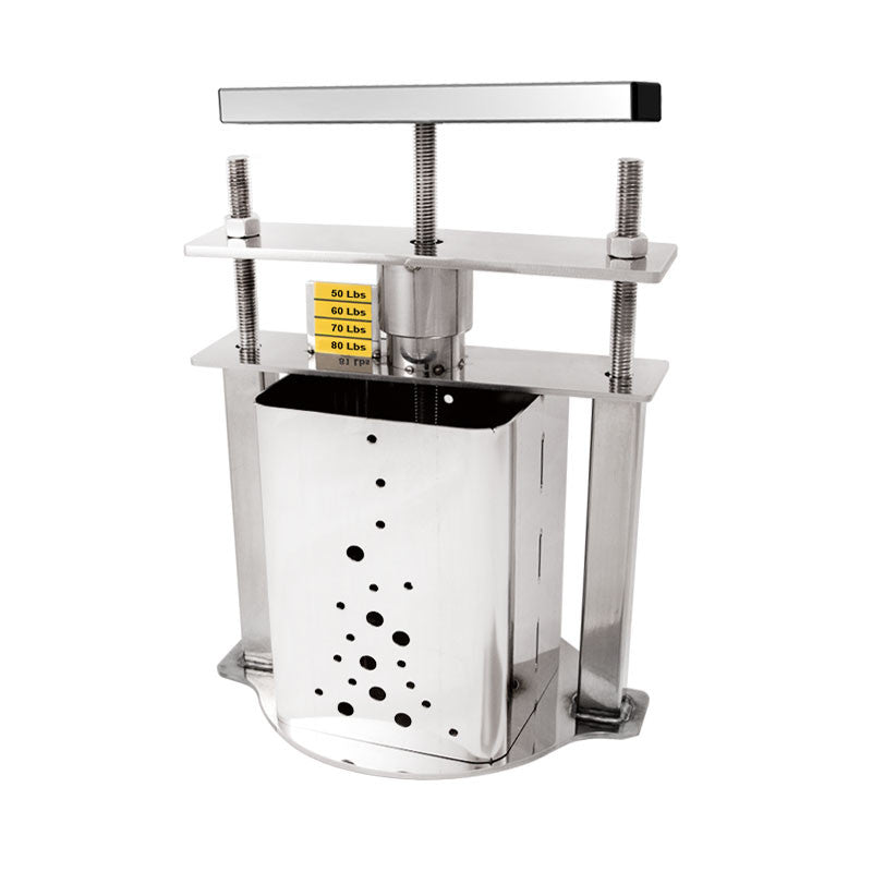 Stainless Steel Cheese Press, Square Mold Small