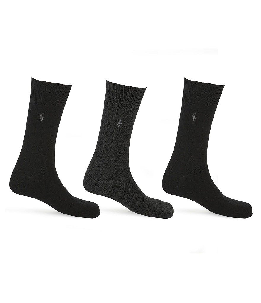 Polo Ralph Lauren Combed Cotton Antimicrobial Socks 3PK