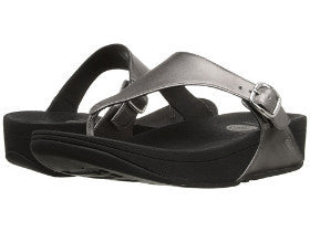 FitFlop The Skinny Leather Pewter