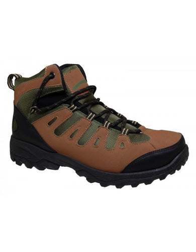 P&W NEW YORK MEN'S 7116 CASUAL HIKING SHOES - Brown/green