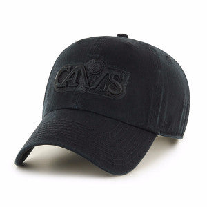 47 BRAND CAVALIER CLEAN UP STRAPBACK- BLACK