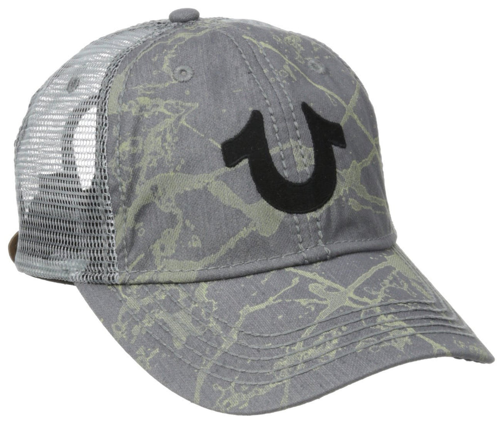 True Religion Spray-Painted Mesh Back Baseball Cap - TR1890