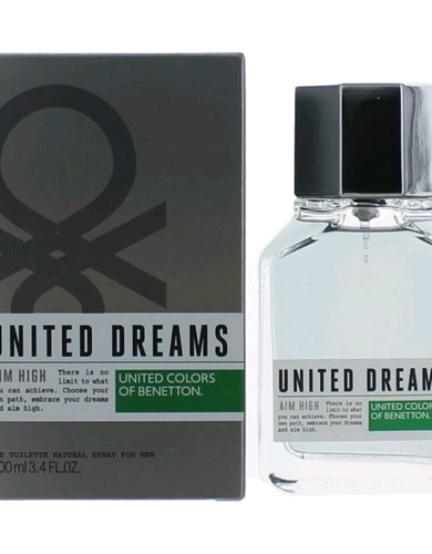 Benetton United Dreams Aim High by Benetton, 3.4 oz Eau De Toilette Spray for Men