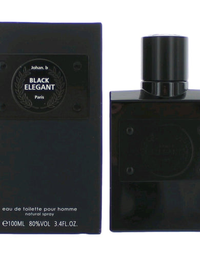 Black Elegant by Johan B, 3.4 oz Eau De Toilette Spray for Men