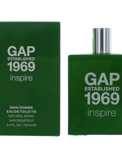 Gap Established 1969 Inspire by Gap, 3.4 oz Eau De Toilette Spray for Men