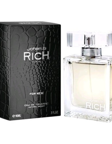 Rich by Johan B, 3 oz Eau De Toilette Spray for Men