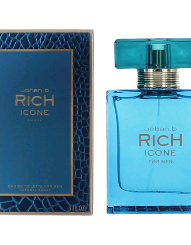 Rich Icon by Johan B, 3 oz Eau De Toilette Spray for Men