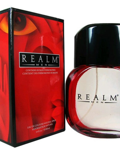 Realm by Erox, 3.4 oz Eau De Cologne Spray for Men with Human Pheromones