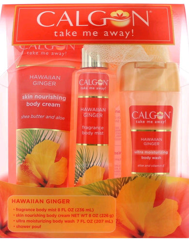 Calgon Hawaiian Ginger by Calgon, 4 Piece Set for Women