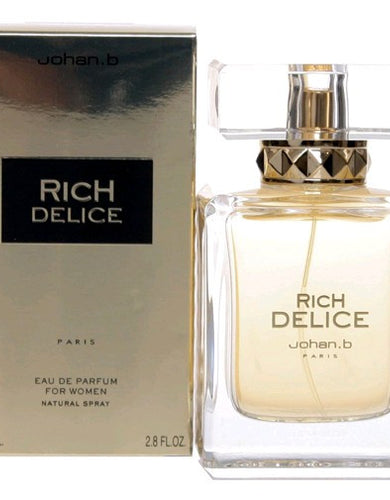 Rich Delice by Johan B, 2.8 oz Eau De Parfum Spray for Women