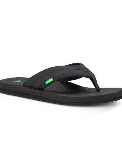 Sanuk Men's Beer Cozy 2 Flip-Flop- Black