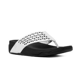 FitFlop Leather Lattice Surfa™ Urban White
