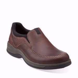 Clarks Mens Portland2 Easy Slip On Leather Casual Shoes