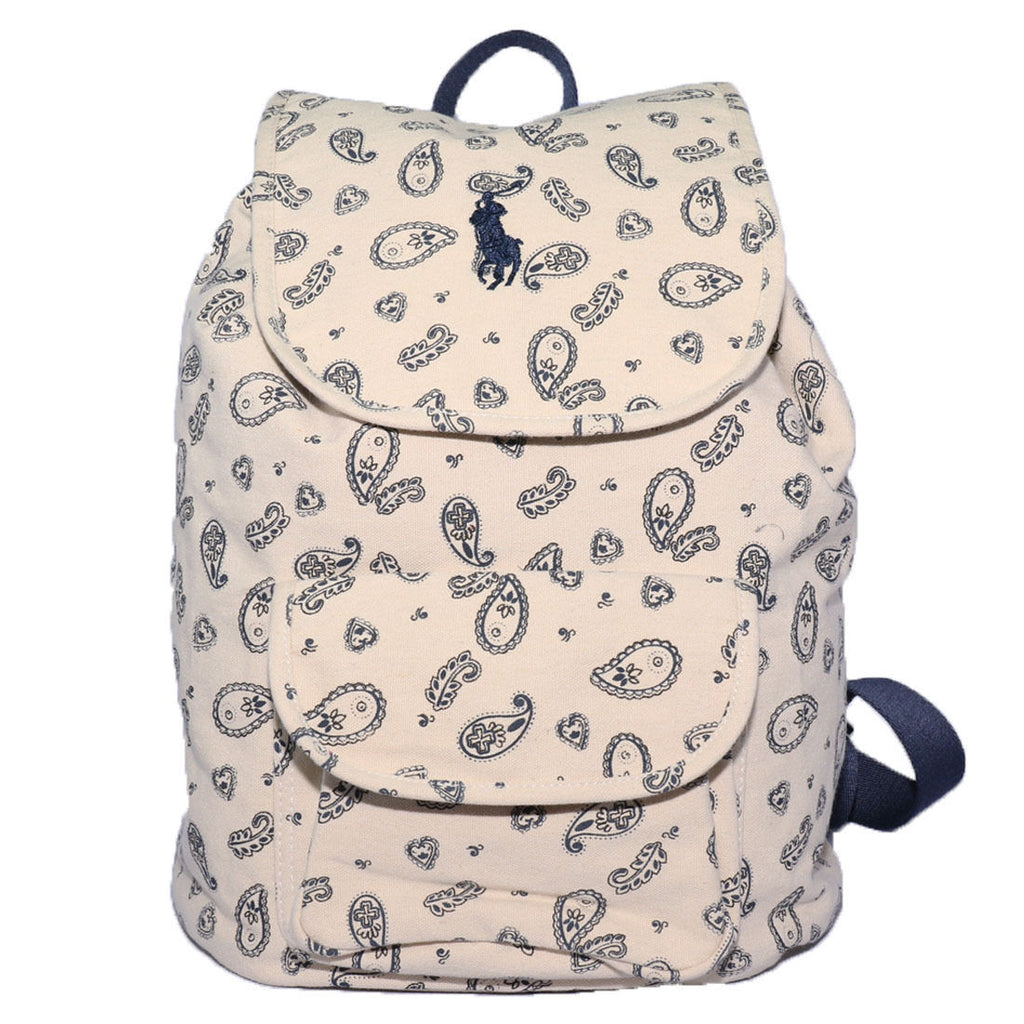 Polo Ralph Lauren Kid's Natural/Navy Bandana Meadow Backpack