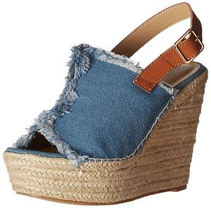 Penny Loves Kenny Women's Notch Wedge Sandal