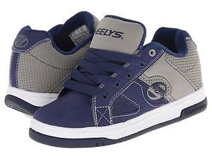 "Boys HEELYS ""SPLIT"" Roller Shoe Navy Blue & Gray Skate Shoes"