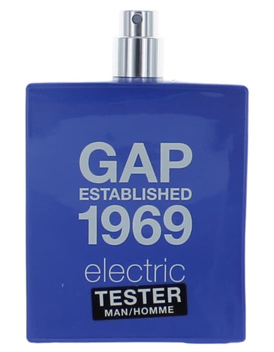 Gap 1969 Electric by Gap, 3.4 oz Eau De Toilette Spray for Men Tester