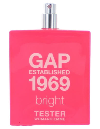 Gap 1969 Bright by Gap, 3.4 oz Eau De Toilette Spray for Women Tester