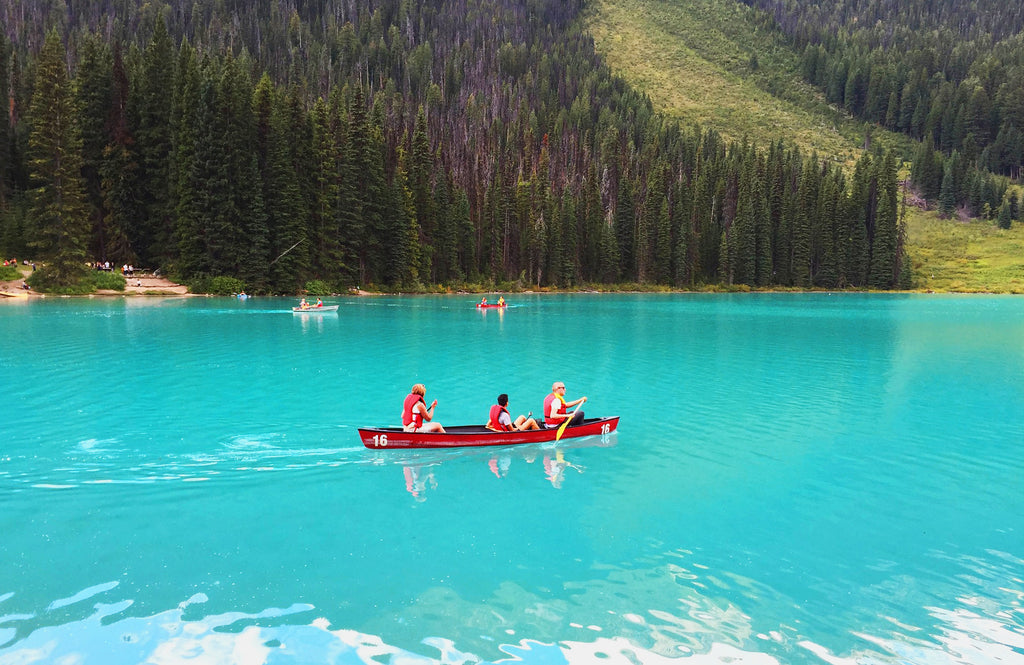 Canoeing at Lake Moraine Alberta