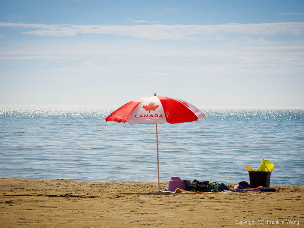 Canadian Umbrella at beach