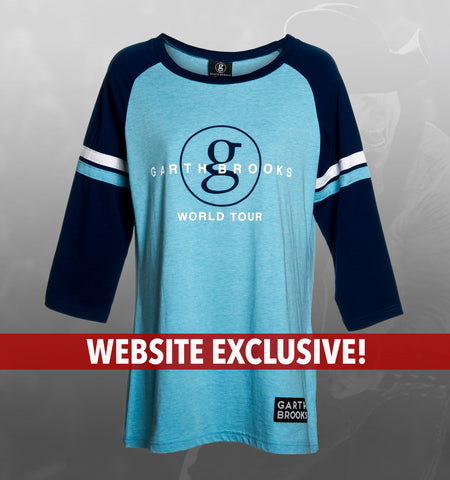 WEBSITE EXCLUSIVE!!  Ladies Light Blue Raglan