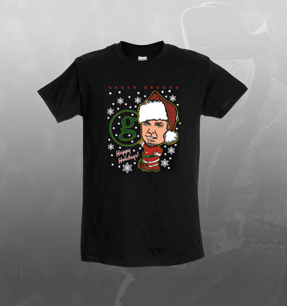 Ugly Christmas Sweater Tee Black Garth Brooks Official Store