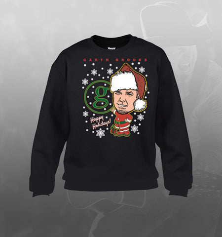 Ugly Christmas Sweater sweatshirt - black