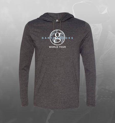 NEW GB World Tour Hooded T-shirt - Grey/Blue