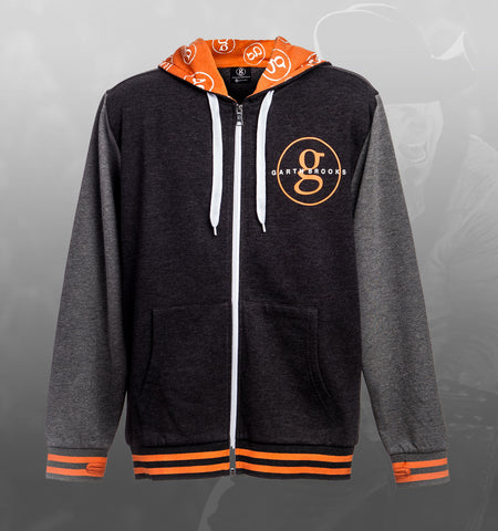Black & Orange World Tour Zipper Hoodie Jacket