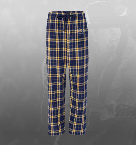 NEW - Garth Brooks World Tour pajama bottoms (yellow/navy)